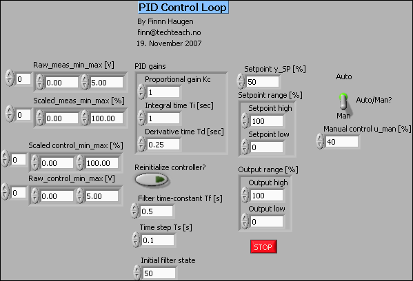 guidelines to pid control with labview by finn haugen techteach : pid block diagram labview - findchart.co
